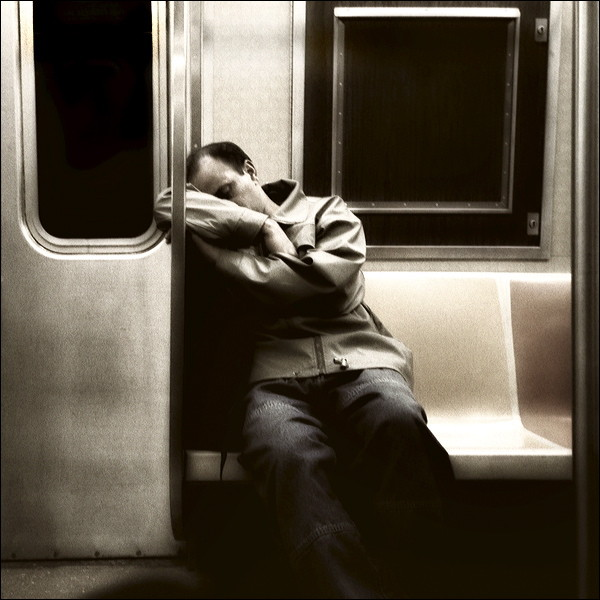 Get more sleep, or youll pass out on the train and then someone will steal your wallet and youll have to spend all day on the phone cancelling your credit cards.  Its called pervention.