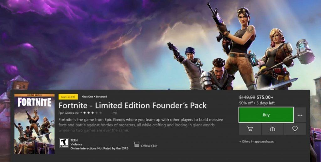 Interface do usuário da Microsoft Store