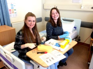 Practicing suturing, thank you to mid 14 for consent to use these images.