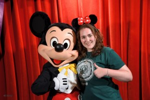 Mickey Mouse and I are the best of friends!