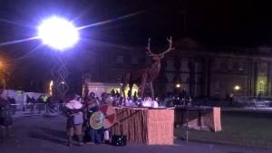 The wicker stag from the end of the celebrations!