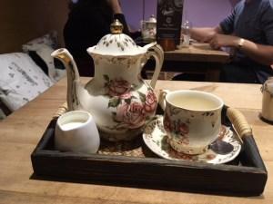 Tea set in a York cafe