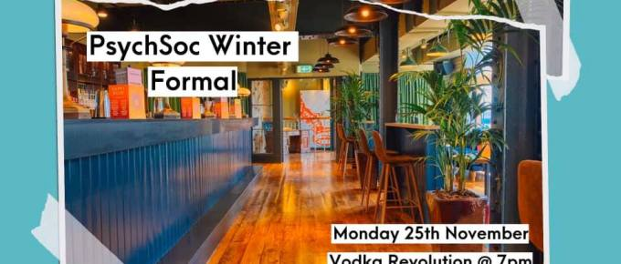 PsychSoc Winter Formal 2019 poster
