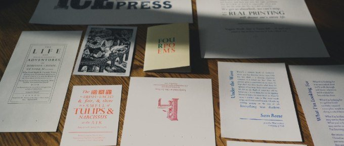 Examples of work created by the University's Print Society