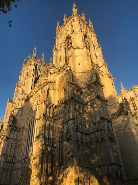 Image of the Minster in the evening sun