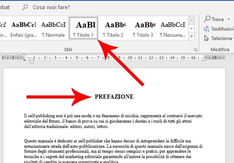 Come fare l'indice con Microsoft Word