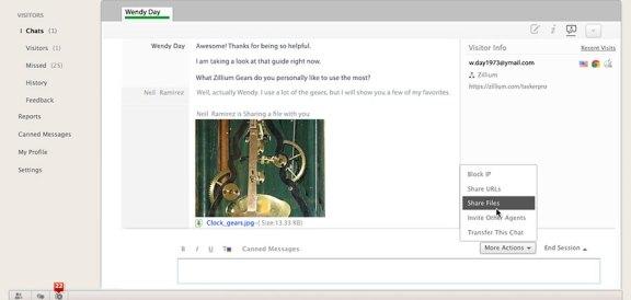 O poderoso painel do LiveDesk ajuda a conectar e dar suporte a mais clientes em menos tempo.
