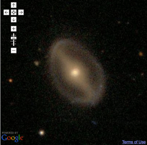 GZ2 Galaxy as seen in Google Maps
