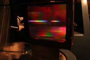 Diffraction grating of KPNO coude feed telescope