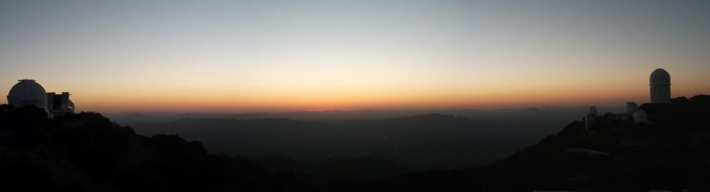The Sun sets over Kitt Peak