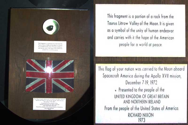 The UK's Apollo 17 Goodwill Moon Rock