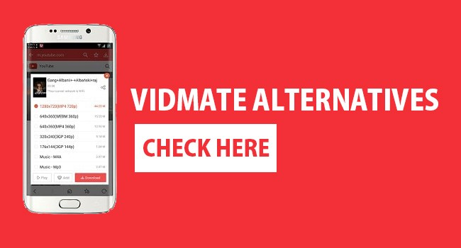 alternatives of vidmate