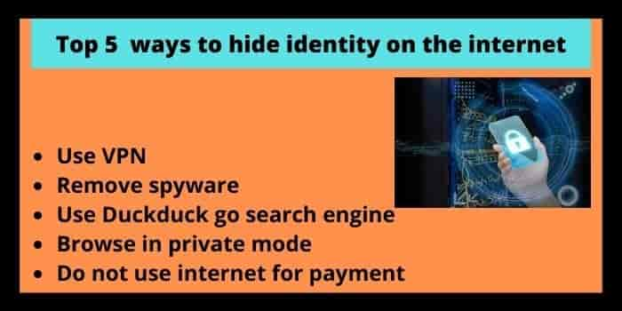 How Can I Hide My Identity On The Internet