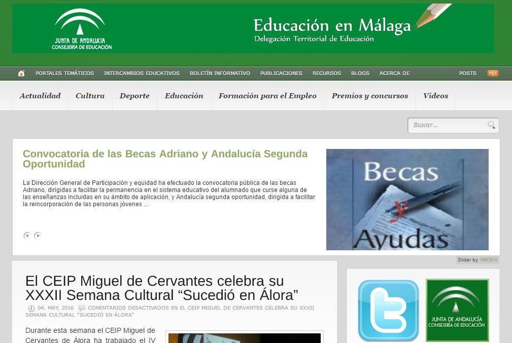 """Recomendamos la selección de blogs educativos de Málaga que realiza la web """"Educar en Málaga"""""""