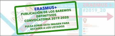 Baremo de alumnos y alumnas solicitantes de las becas Erasmus+ del IES AXATI