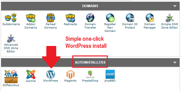 WordPress autoinstaller