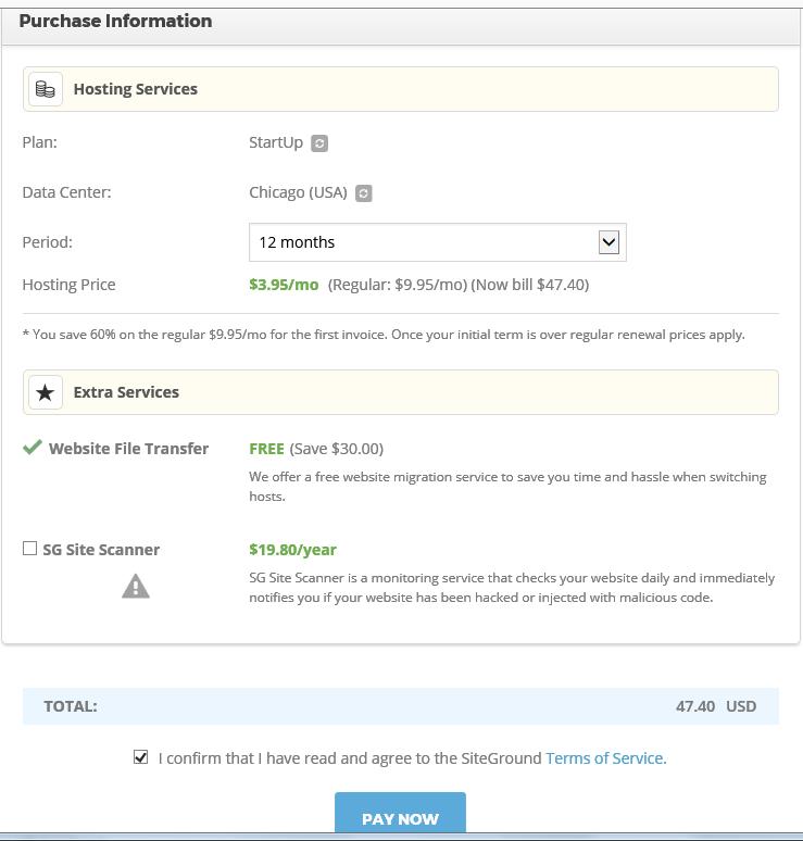 Setting up SiteGround webhosting