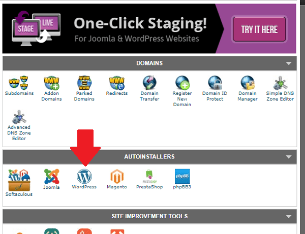 Autoinstall wordpress