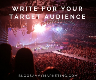 write content aimed at your target audience