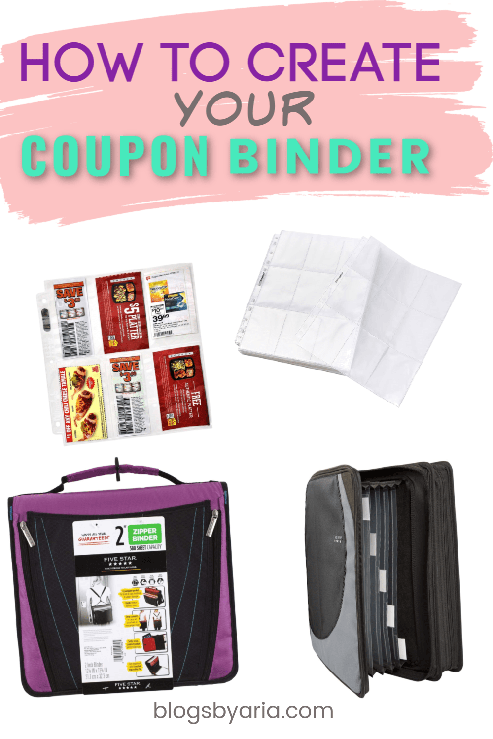 how to create your coupon binder