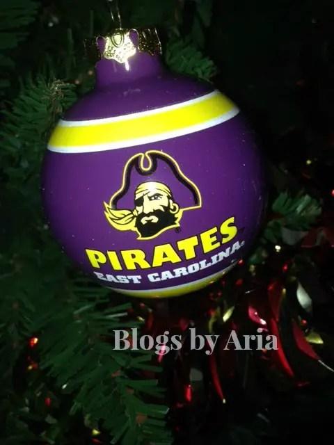 ECU Pirates Tree Ornament