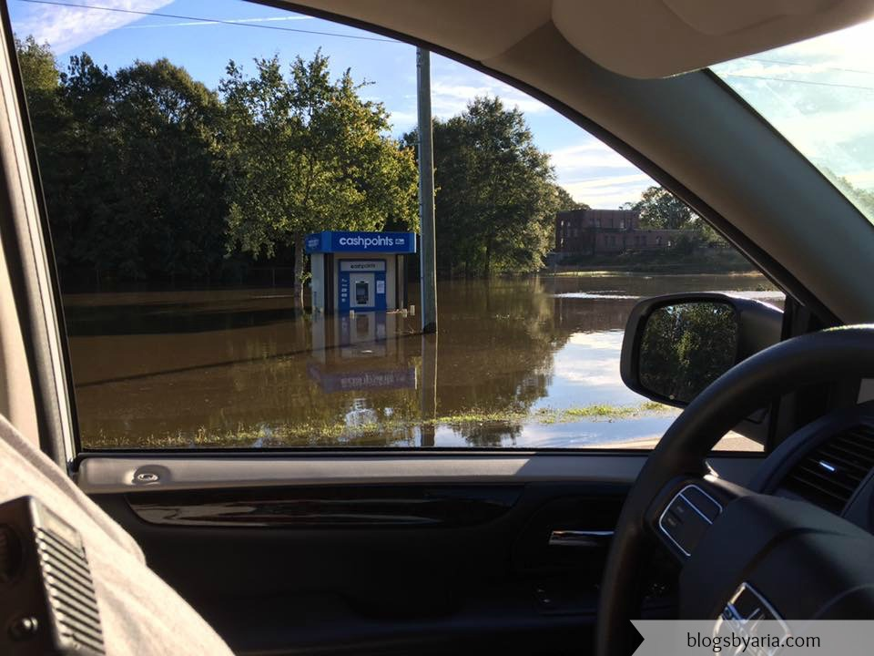 flooded cash points after hurricane matthew