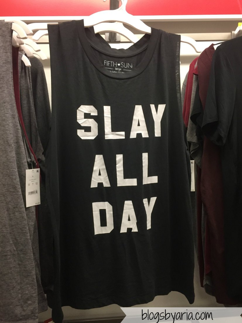 Slay All Day Muscle Tank Charcoal Gray - Fifth Sun