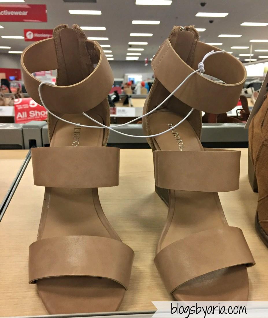 Karlyn Quarter Straps Wedge Sandals - Merona