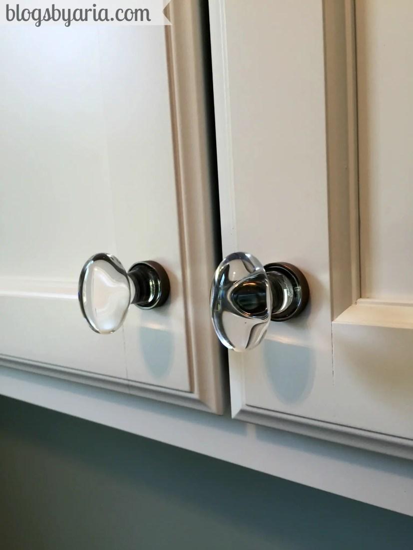 clear oval door knob