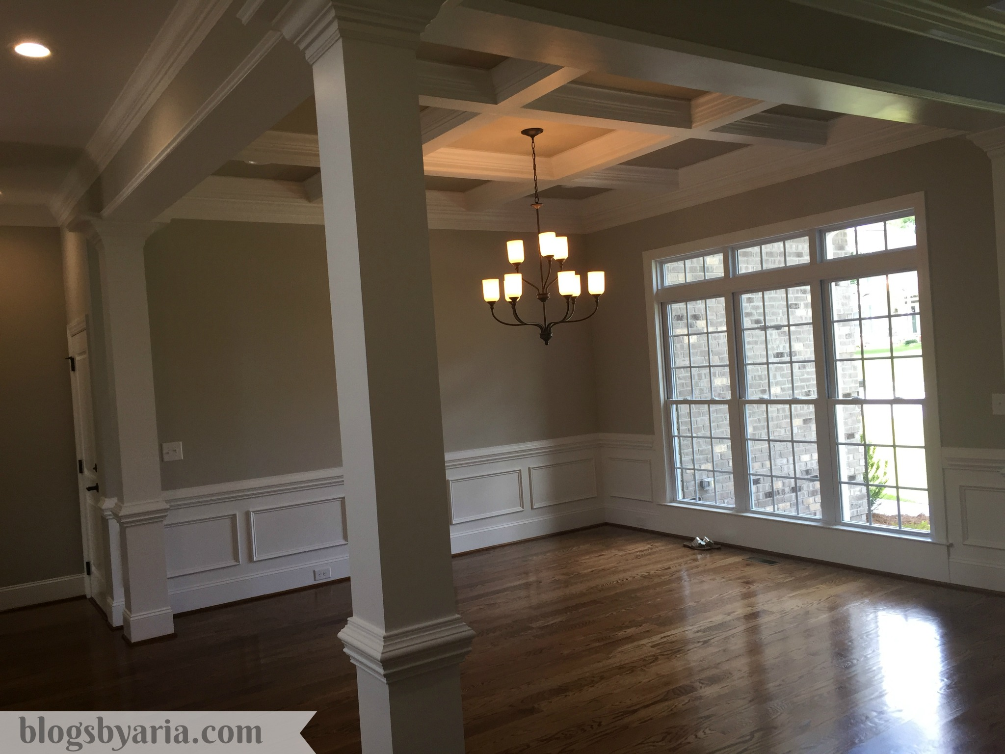 dining room coffered ceilings