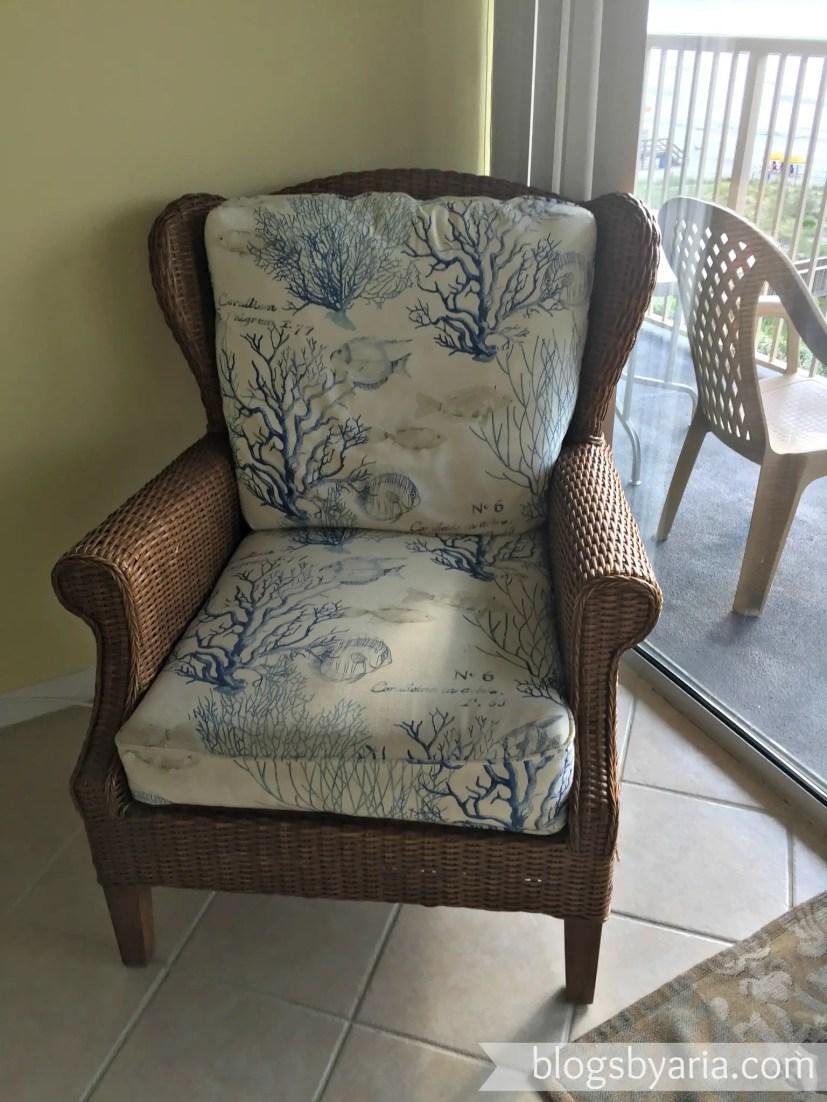 seaweed beach wicker chair