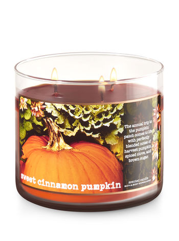 Bath & Body Works - Sweet Cinnamon Pumpkin 3 wick candle