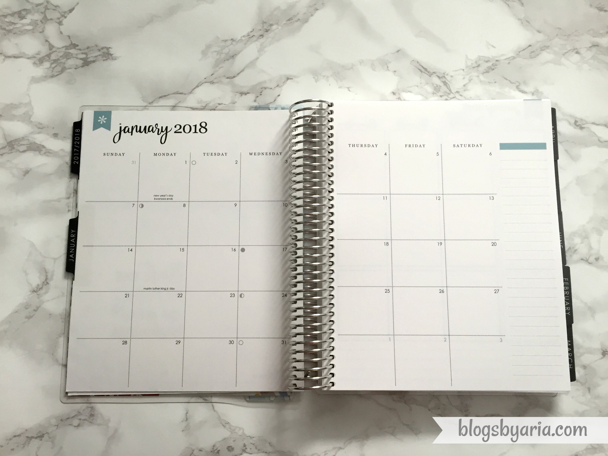 2018 Erin Condren Vertical Neutral Life Planner monthly view