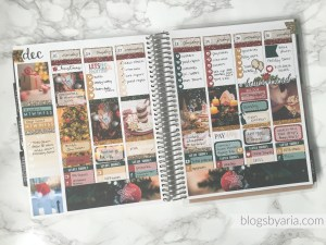 Holiday Planner Spreads