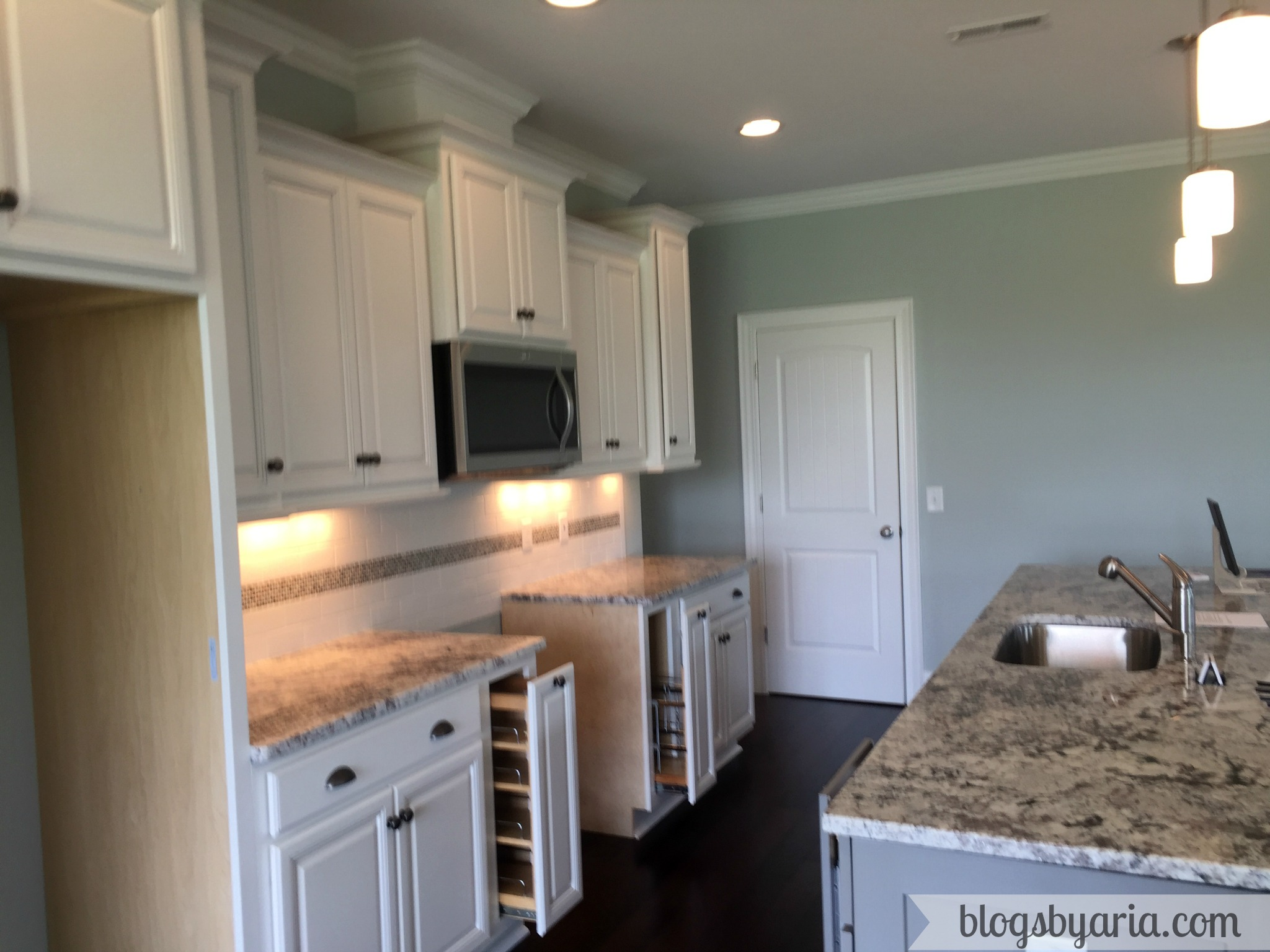 white kitchen granite counters kitchen tour