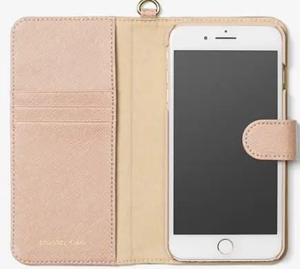 Michael Kors Saffiano Leather folio phone case