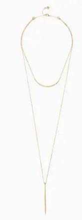 Stella & Dot Kari layered necklace