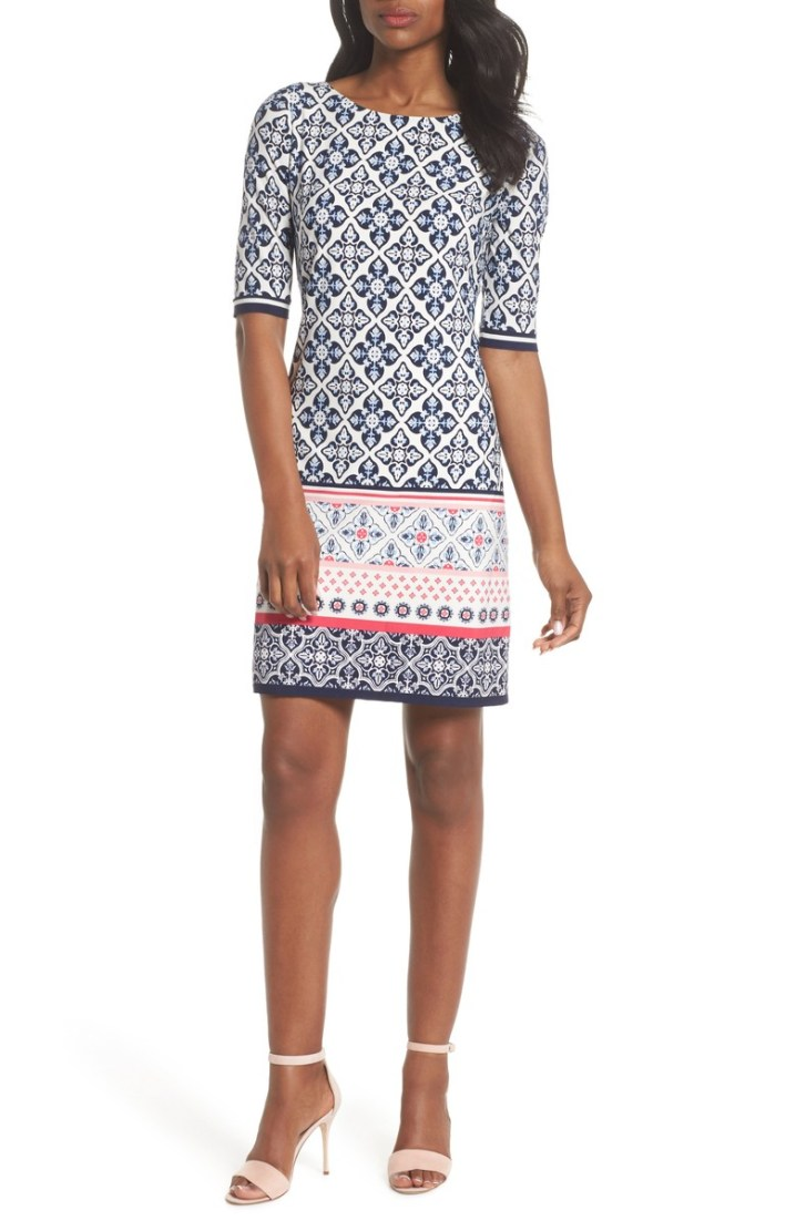 Eliza J Print Sheath Dress