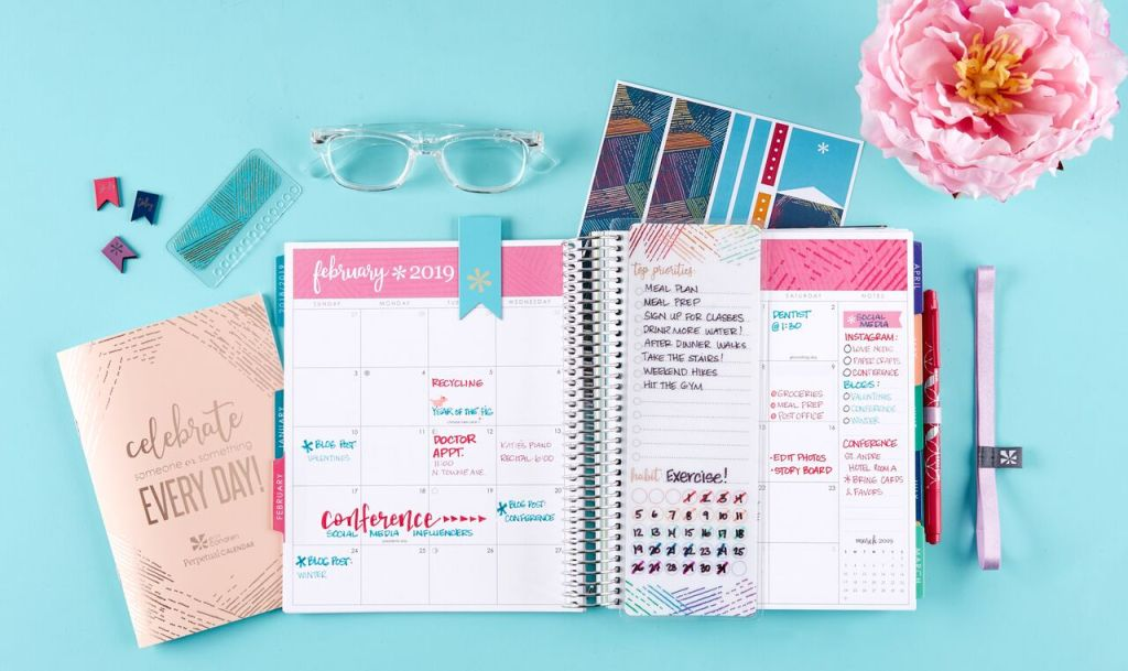 Erin Condren Life Planner monthly spread