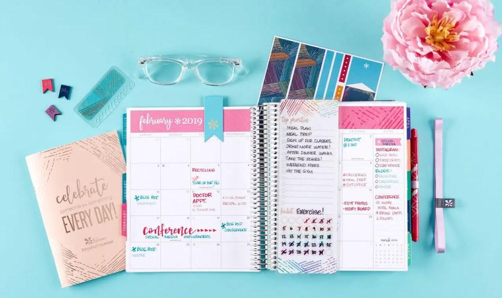 Erin Condren Life Planner monthly spread
