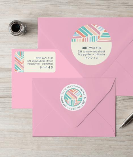 Erin Condren Modern Brushstrokes Return Address Labels