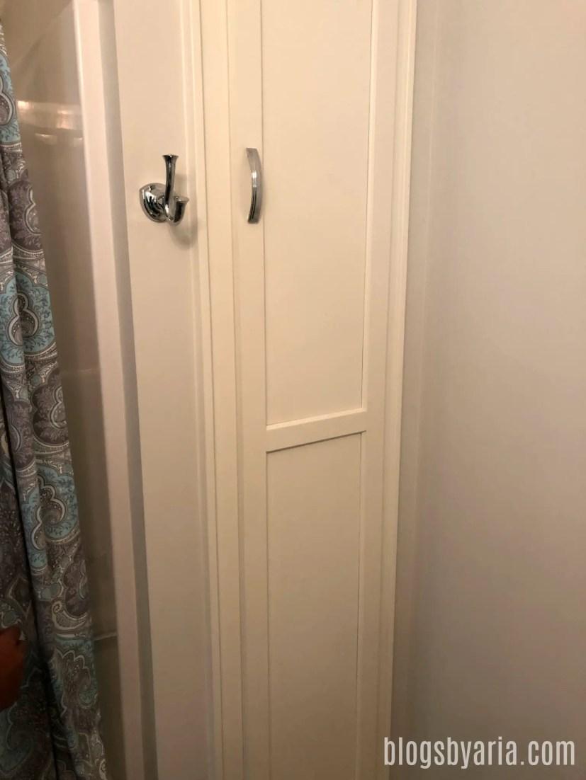 bathroom linen closet