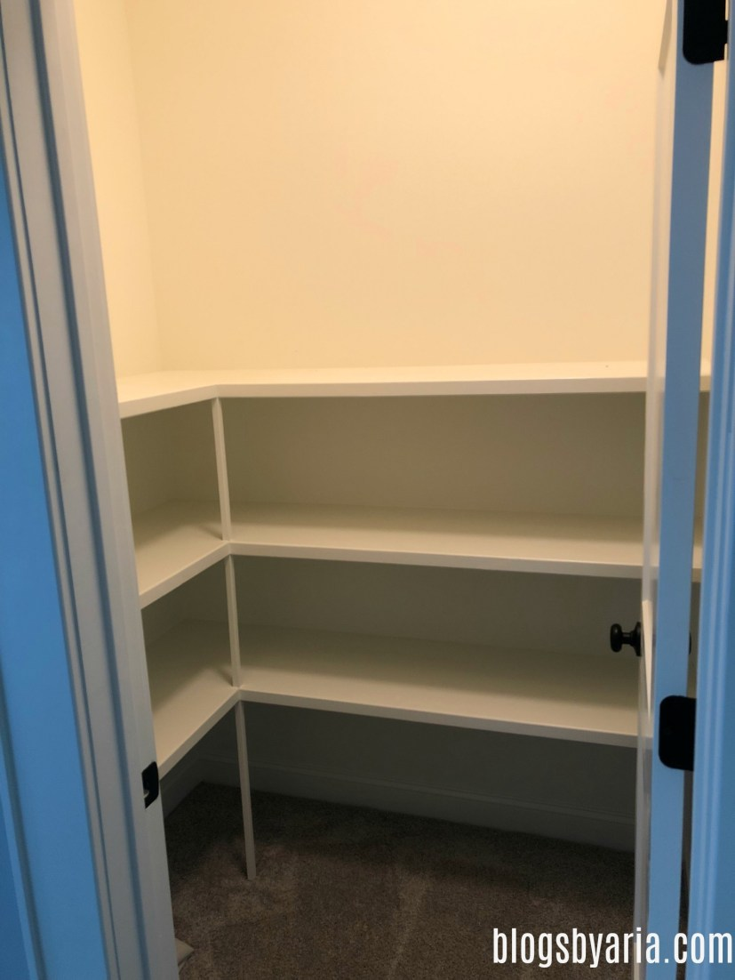bonus room walk-in storage closet