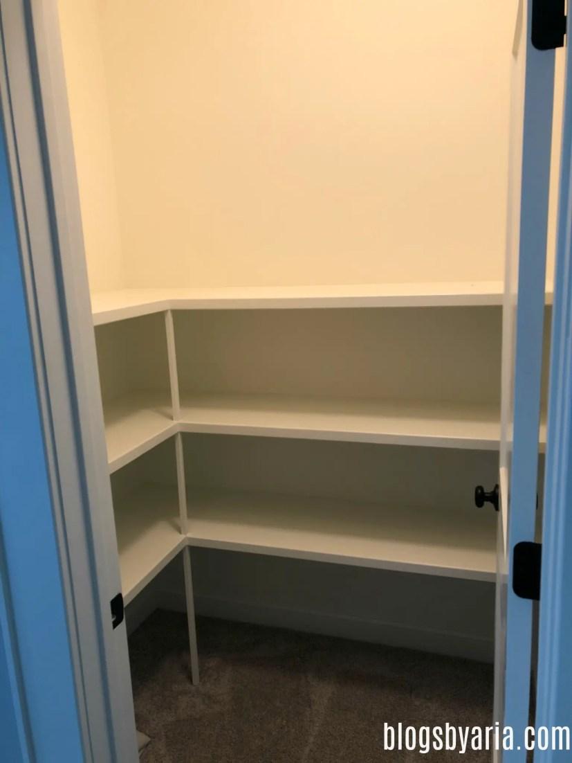 bonus room walk-in storage closet