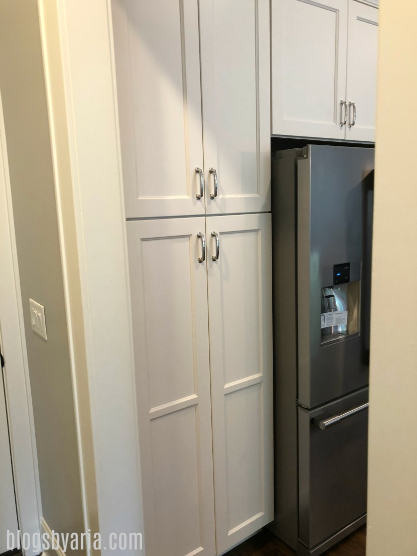 built-in pantry #whitekitchen