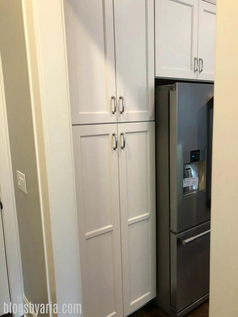 built-in pantry #whitekitchen