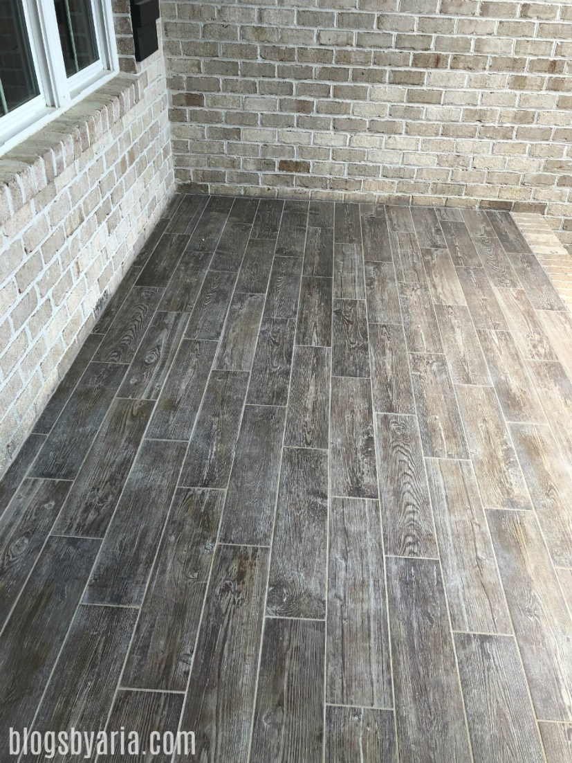 front porch distressed wood floors