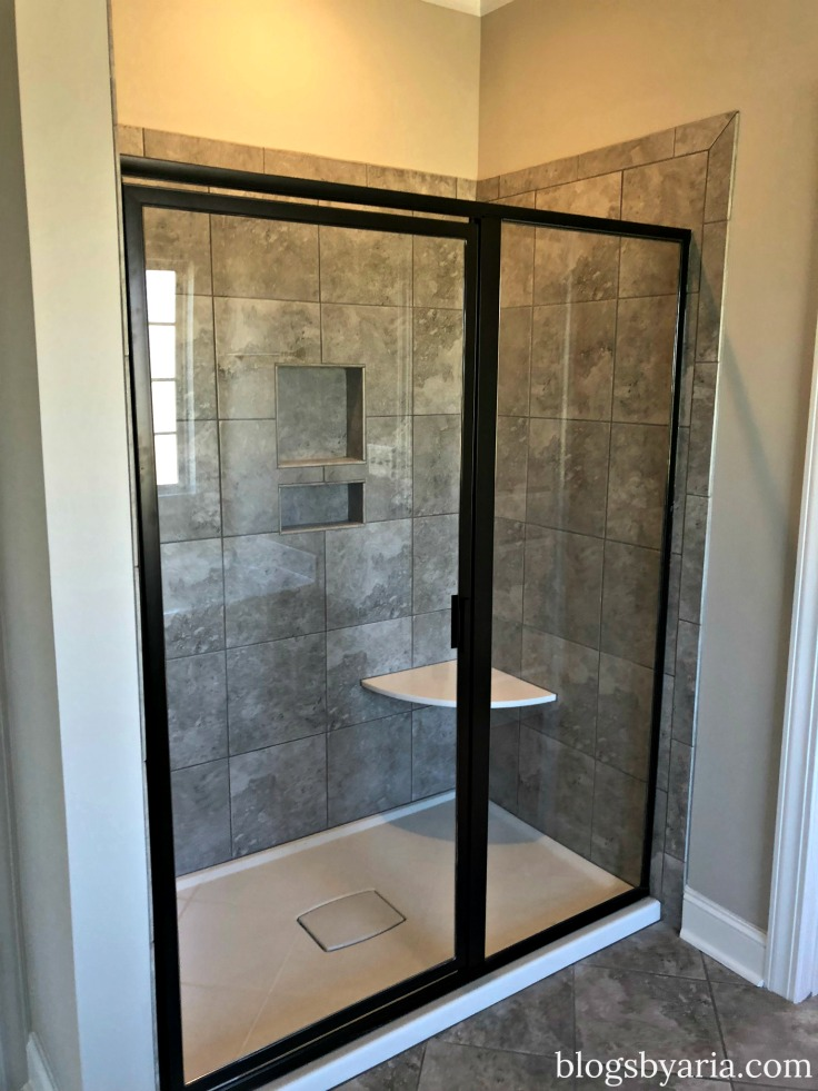 enclosed shower in master ensuite