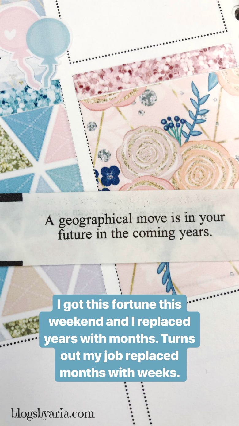 My fortune cookie was right--we're moving!!