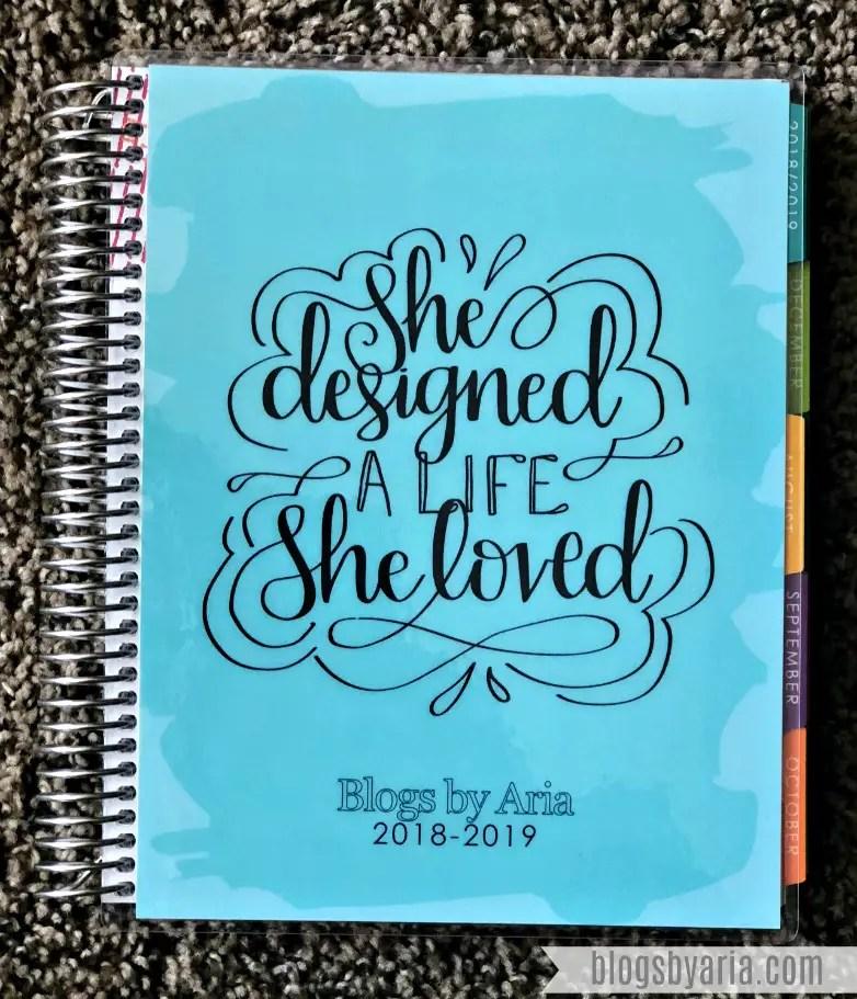 She Designed a Life She Loved Erin Condren Deluxe Monthly Planner